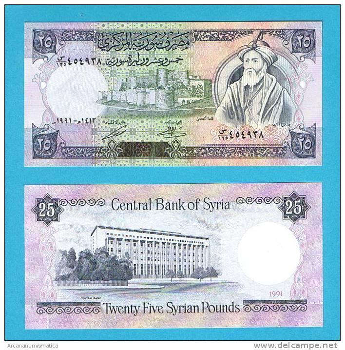 SYRIA/SIRIA    25   POUNDS   1.991    KM#102e    PLANCHA/UNC  (BT)    DL-4916 - Siria