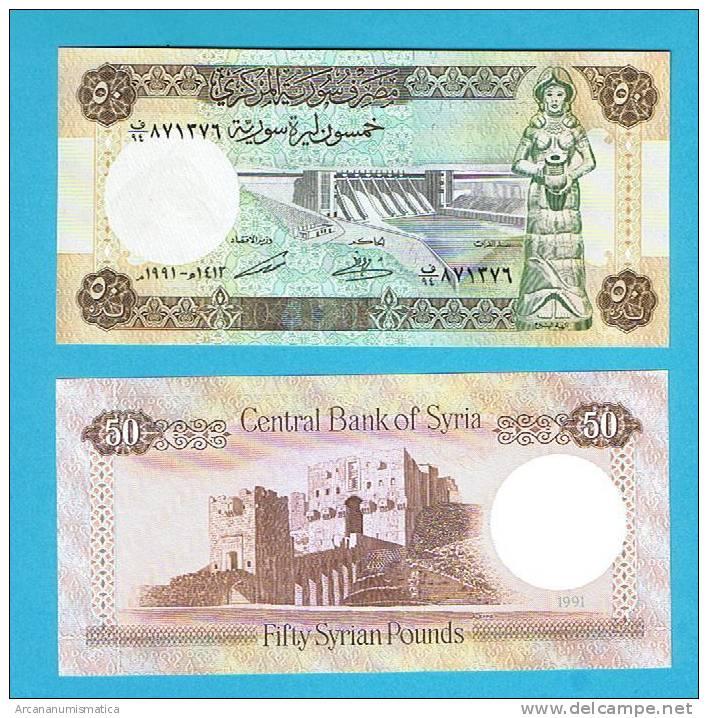 SYRIA/SIRIA    50   POUNDS   1.991    KM#103e    PLANCHA/UNC     DL-4942 - Siria