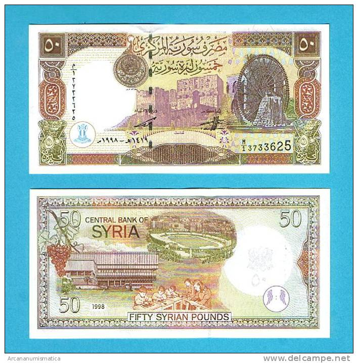 SYRIA/SIRIA    50   POUNDS   1.998    KM#107    PLANCHA/UNC    (BT)     DL-4955 - Siria
