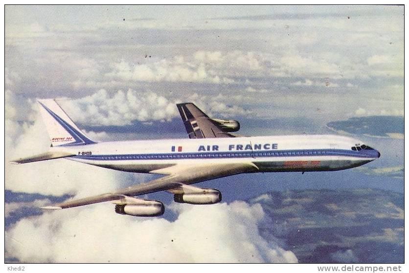 Carte Postale Avion BOEING 707 AIR FRANCE - Flugzeug Postkarte - Airplane Postcard - 1946-....: Ere Moderne
