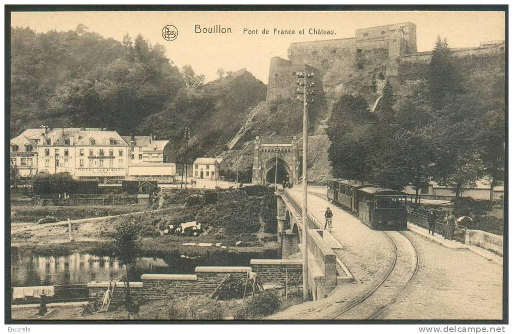 Tram à Vapeur De Bouillon + Pont De France Et Château.  Etat Neuf.  TB - 3071 - Tramways