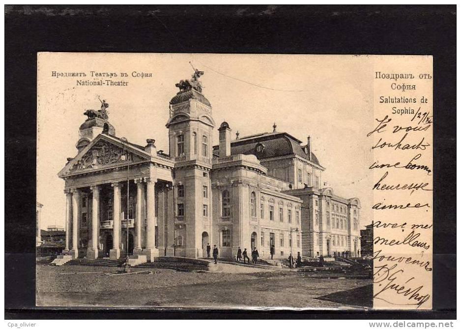 BULGARIE Sofia, Gruss, National Theater, Ed Weber 1086, 1907 - Bulgarie