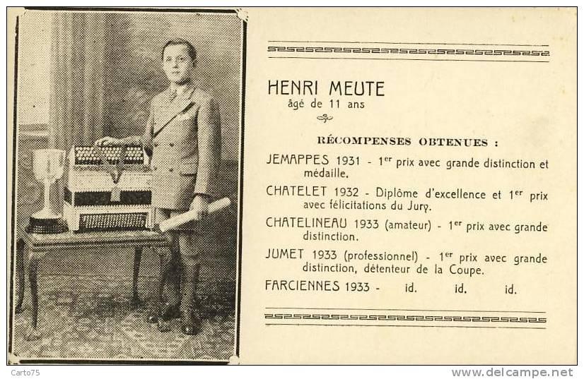 BELGIQUE - Henri Meute 11 Ans - Enfants - Diplôme Musique - Accordéon - Jemappes Chatelet Chatelineau Jumet Farciennes - Farciennes