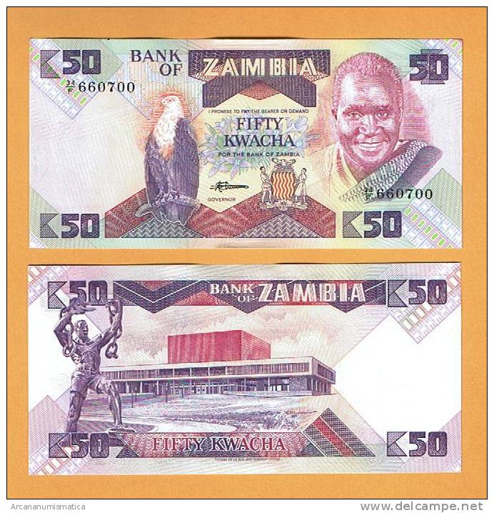ZAMBIA  50  KWACHA  ND (1.986-88)    KM#28     PLANCHA/UNC  (LQ)   DL-5238 - Zambia