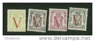 N°s 670/673 Du Cob ** Neufs Du 18/12/44 - Belgium