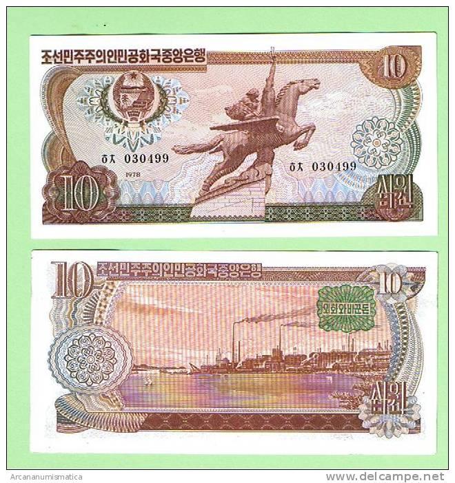 COREA DEL NORTE/NORTH  KOREA   10  WON  1.978   PLANCHA/UNC   DL-5667 - Corea Del Norte