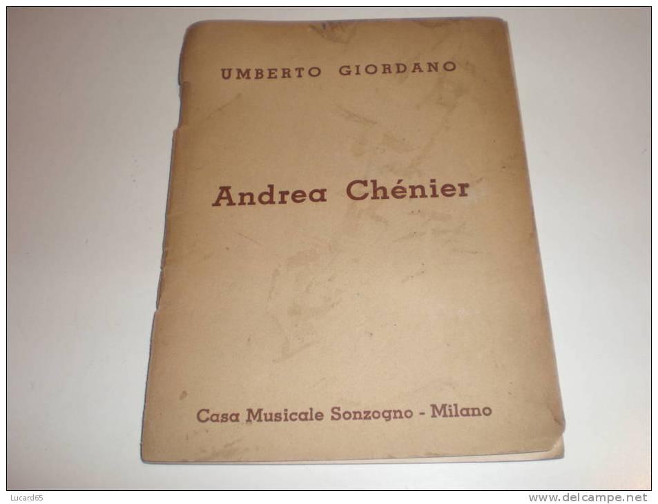 """LIBRETTO D´OPERA """"ANFREA CHENIER"""" DEL 1952 - Opern"""