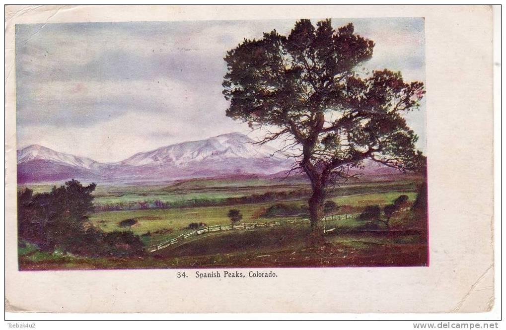 Colorado  -  Spanish Peaks  -  1910  -  Embossed Postcard - Etats-Unis