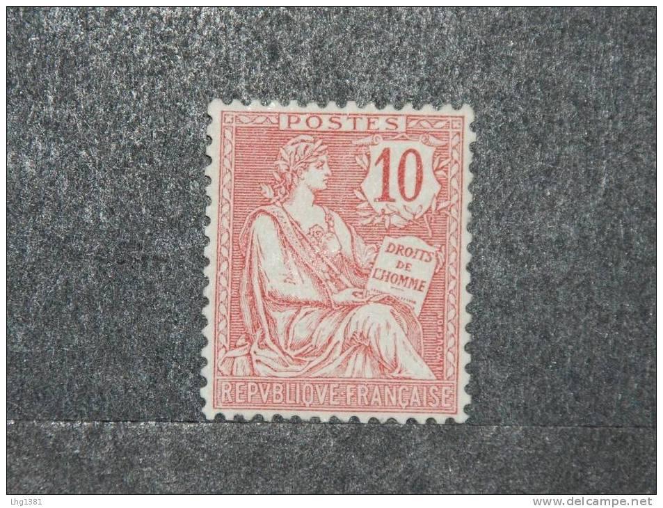 Y & T 124 - XX - 10 Cents Rose - Type Mouchon - Centrage Parfait - Signé BRUN - 1900-02 Mouchon