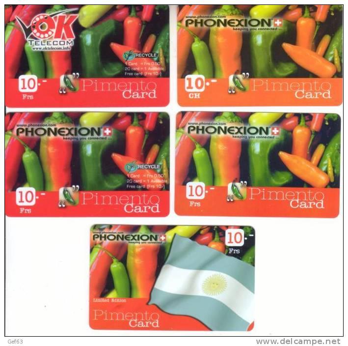 5 Pimento Card ° Phonexion - Ok Telecom - Lebensmittel