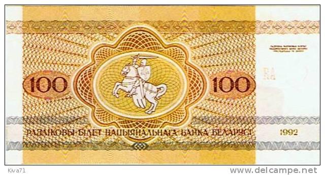 """100 Rublei  """"BIELORUSSIE""""  Bison  1992     UNC    B1 - Belarus"""