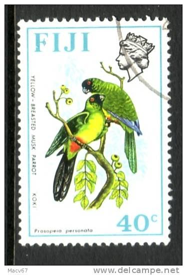 Fiji 317  Wmk. Upright (o)  BIRDS And FLOWERS - Fiji (1970-...)