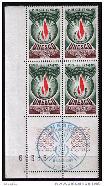 SERVICE YT  N**  39  Bloc De 4 Coin De Feuille  Oblirété 1er Jour  1969 - Neufs