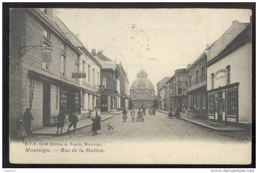 CPA  Montaigu  Rue De La Station - Scherpenheuvel-Zichem
