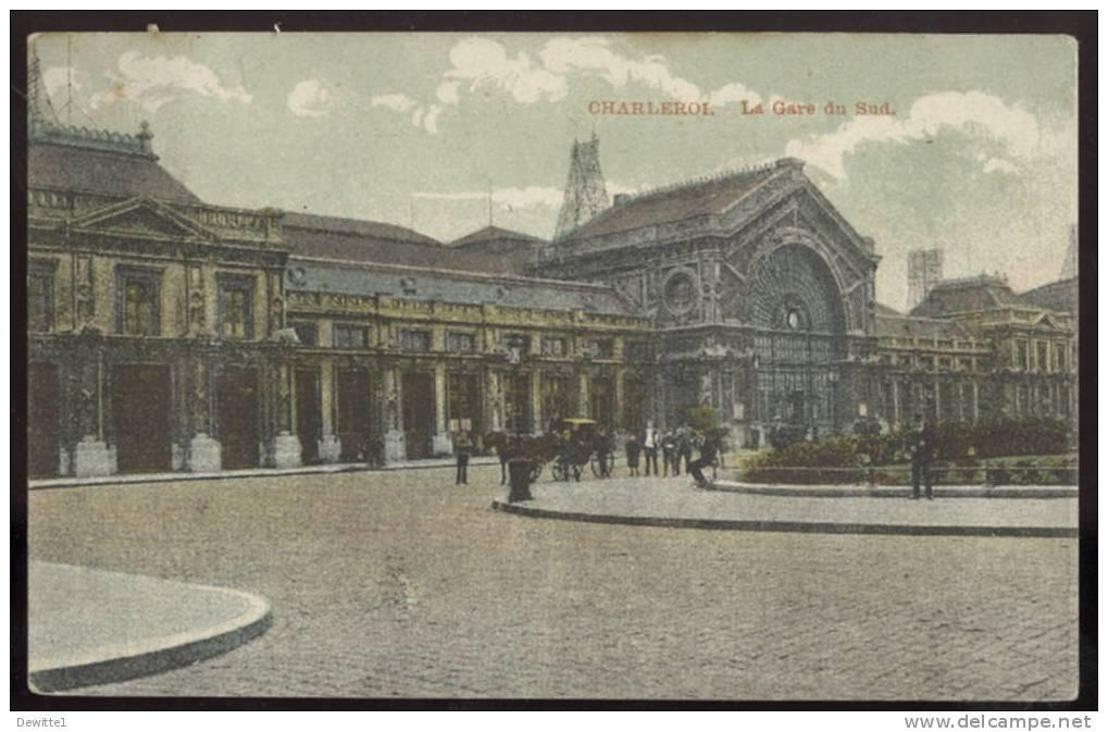 CPA Charleroi  La Gare Du Sud   1908 - Scherpenheuvel-Zichem