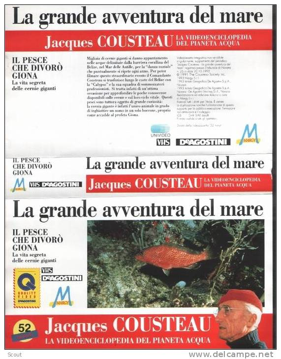 LA GRANDE AVVENTURA DEL MARE - IL PESCE CHE DIVORO´ GIONA - Documentaires