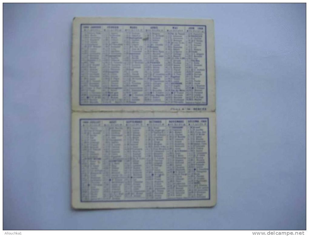 CALENDRIER PETIT FORMAT   PUB MAROQUINERIE MARSEILLE EN 1968 PLACE FELIX BARET PREFECTURE SOCIETE J LE MOEL - Kalenders