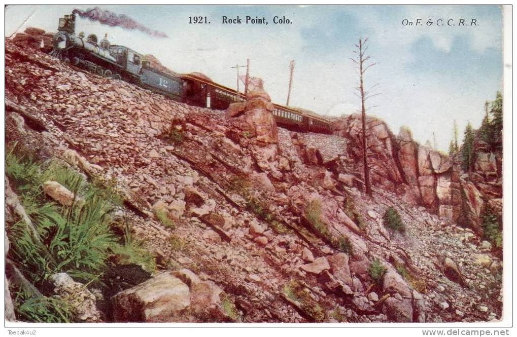 Colorado  -  Rock Point  -  1908  -  Railway  -  Train - Etats-Unis
