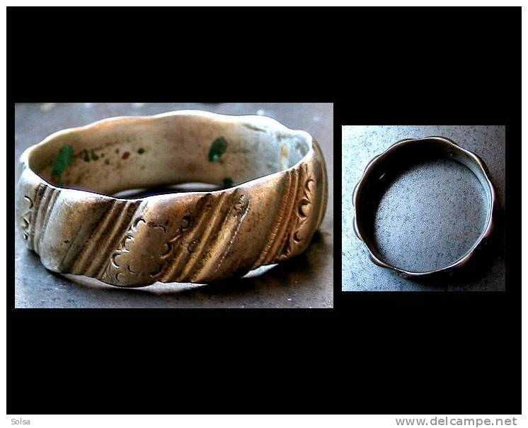 Ancien Deblij Zaïane Du Moyen Atlas / Old Zaïne Silver Bracelet From Morocco - Art Africain