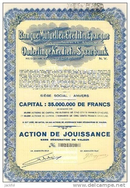 ONDERLINGE KREDIET & SPAARBANK / BANQUE MUTUELLE DE CREDIT & D´EPARGNE - Banque & Assurance