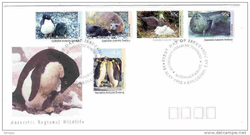 Australian Antartic-1992 Regional Wildlife FDC - Australian Antarctic Territory (AAT)