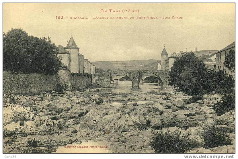 BRASSAC 81 - L´Agout - Pont Vieux - Brassac