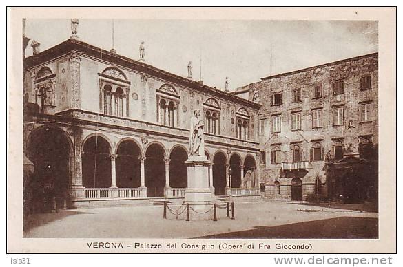 Italie - P661 - Veneto - Verona - Verone - Palazzo Del Consiglio ( Opéra Di Fra Giocondo ) - état - Verona