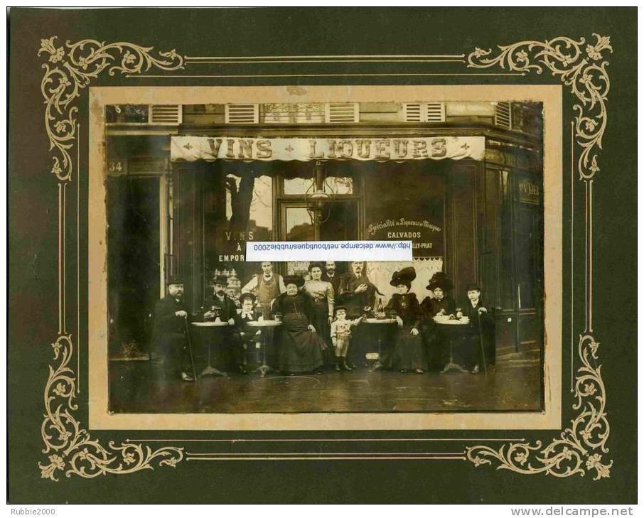 PHOTOGRAPHIE PARIS 5 CAFE VIN LIQUEUR 34 BOULEVARD SAINT GERMAIN AU CROISEMENT AVEC RUE DE PONTOISE DOCUMENT EN BEL ETAT - Lieux
