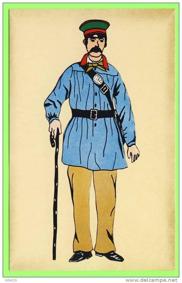 POSTE - FACTEUR RURAL EN COSTUME SOUS LE SECOND EMPIRE,1862 - IMP. PIERRON - - Poste & Facteurs