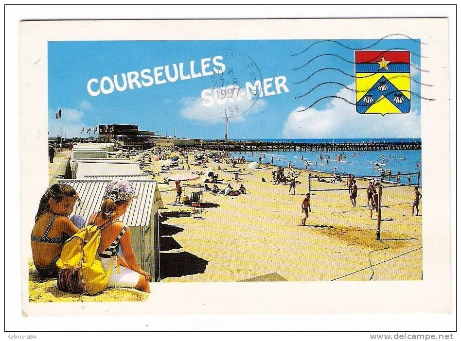 CALVADOS  /  COURSEULLES-sur-MER  /  LA  PLAGE  ( Match De BEACH-VOLLEY , à Droite = VOLLEYBALL ) - Volleyball