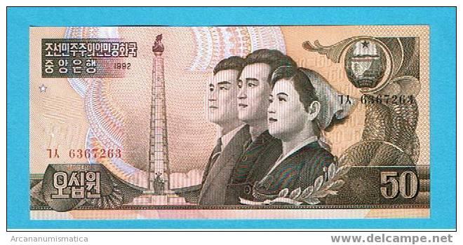 Corea Del Norte 50 Won 1992-98 Km42 Sc   DL-5744 - Corea Del Norte