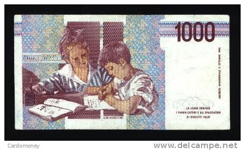 ITALIE 1000 Lires 3/10/1990 ITALIA - [ 1] …-1946 : Kingdom