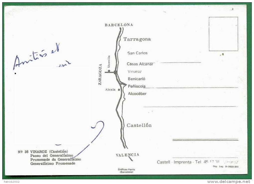N° 36 __ VINAROZ (Castellon) Paseo Del Generalisimo - Castellón