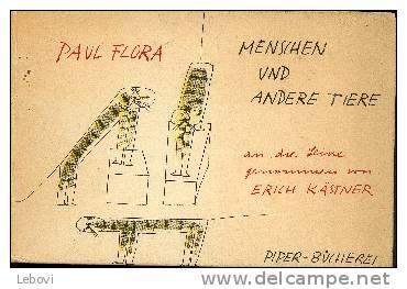 """""""Menschen Und Andere Tiere"""" FLORA, Paul - R. Piper & CO München (1957) - 51 Zeichnungen - Boeken, Tijdschriften, Stripverhalen"""