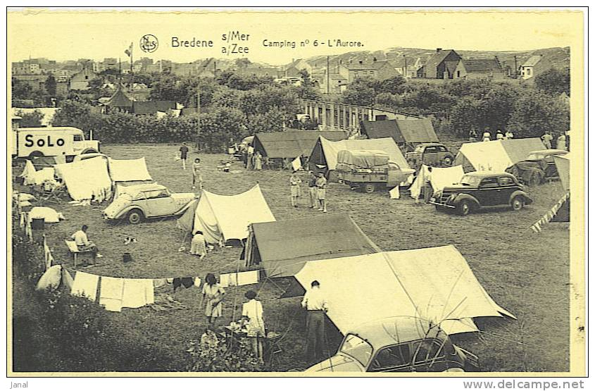 -  BELGIQUE - BREDENE - CAMPING N°6 L'AURORE - - Bredene