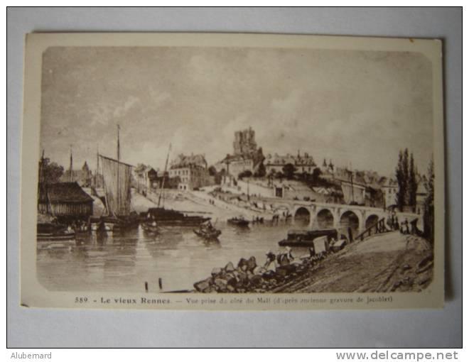 Le Vieux Rennes. (gravure) - Rennes