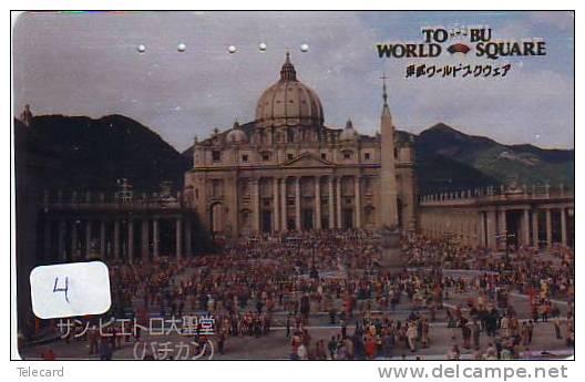 Télécarte ITALIE Reliée VATICAN  (4)  Phonecard ITALY VATICAN RELATED * Telefonkarte ITALIA Verbunden - Japan - Vatican