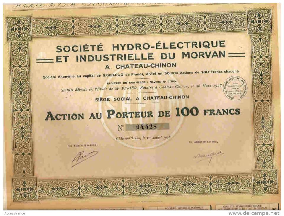 STE HYDRO ELECTRIQUE & INDUSTRIELLE DU MORVAN - Unclassified