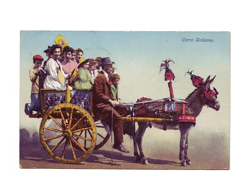 CARRO SICILIANO!! SEND 6. 5. 1911  PRIMA. (2 SCAN)!! - Unclassified