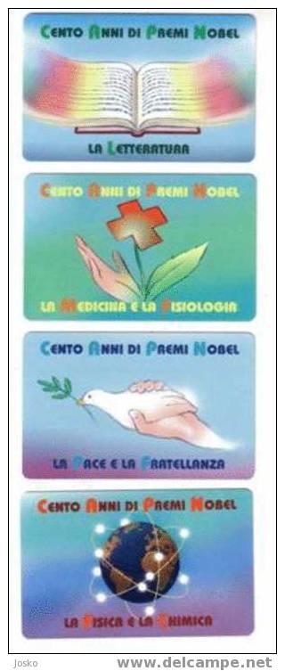 NOBEL PRIZE - Laureates ( SAN MARINO MINT &  RARE SET ) Medicine Medecine Dove Of Peace Colombe De La Paix Mother Teresa - Saint-Marin