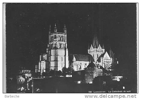 LAUSANNE .- Cathédrale La Nuit . 1351.D - VD Waadt