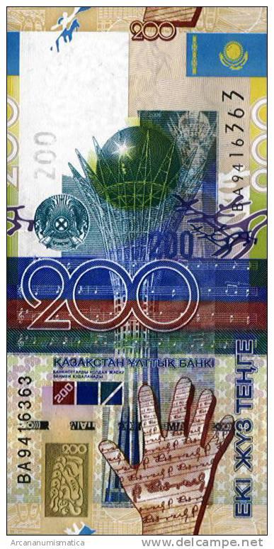 KAZAKHSTAN  200  TENGE  2.006   SC/UNC/PLANCHA    DL-5740m - Kazakhstán