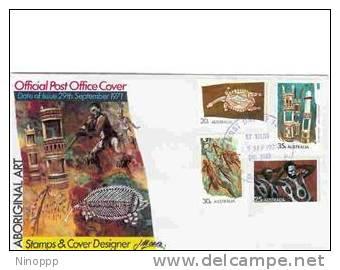 Australia  - 1971 Aboriginal Art   FDC - FDC