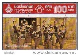 THAILANDE DANSE FOLKLORIQUE 100U UT - Thaïlande