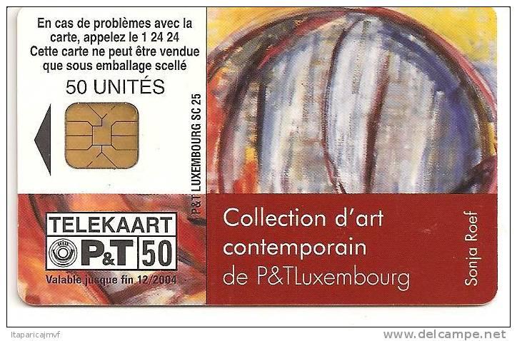 Telecarte LUXEMBOURG :   F   SC25  ART CONTEMPORAIN - Luxembourg