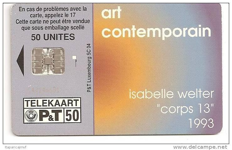 Telecarte LUXEMBOURG :   F   SC5   ART CONTEMPORAIN - Luxembourg