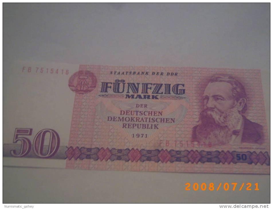 ALEMANIA DEMOCRATICA 50 MARCOS 1971 - 50 Deutsche Mark