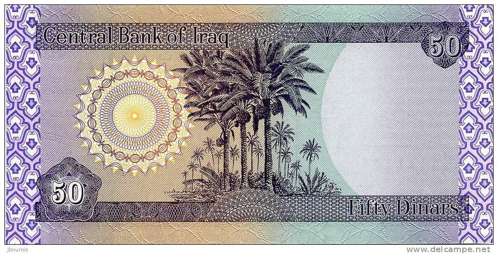 Iraq 50 Dinars 2003 - 1424 UNC P90 - Iraq