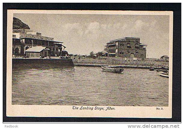 Uncommon View Early Postcard The Landing Stage Aden Yemen - Ref B123 - Yemen
