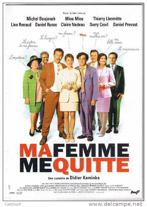 Dossier Presse MA FEMME ME QUITTE Miou Miou - Boujenah - Lhermitte - Non Classificati